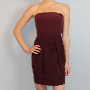 NWT dark red strapless Naven mini cocktail dress